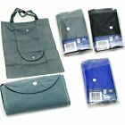 Tote Shopping Bag With Pocket & Foldaway Compact Pouch Black Blue Grey