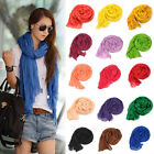 2014 Autumn Winter Candy Colors Long Crinkle Soft Scarf Wrap Voile Wraps Shawl