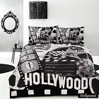 Hollywood Black Retro Home Vintage Quilt Cover Set - SINGLE DOUBLE QUEEN KING