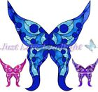 8x PRE-CUT 3D FAIRY WINGS craft suncatcher stick on cut out scrapbooking fairies