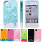 Full 3D Melt Ice-Cream Skin Protect Hard Case Cover For Apple iPhone 4 4S Thin
