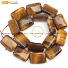 """Natural Gemstone Rectangle Brown Tiger Eye Stone Beads For Jewelry Making 15"""""""