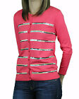 AUGUST SILK Women's Gypsy Coral Sequin Detail 3/4 Sl Cardigan 0717029 $68 NEW