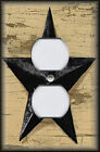 Light Switch Plate Cover - Rustic Black Barn Star - Primitive Home Decor Country