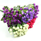 Beautiful Little Roses Wedding Bouquet Artificial Flowers Gift Garden Home Decor