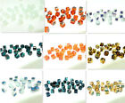 100PCS CUBE CRYSTAL glass loose BEADS 4MM Multi-Color for choose