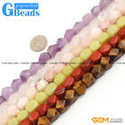 8-9x11-12mm Assorted Stone Cuboid Faced Beads For Jewelry Making Free Shipping