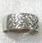 Sterling silver open-weave ring Select size qrc