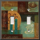 Switch Plates And Outlets - Cafe Coffee - Kitchen Home Decor - Brown Teal