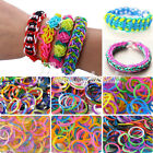 200/600Pcs Refill Loom Rubber Bands With S Clips Loom Tool DIY Bracelet