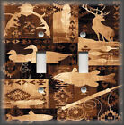 Light Switch Plate Cover - Rustic Cabin Home Decor - Deer Fish Hunting