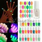 Fashion Fluorescent Glow in Dark Neon Nail Art Polish Lacquer Varnish Colorful