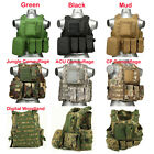 USMC Airsoft Tactical Military Molle Combat Assault Plate Carrier Vest Black Mud