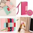 Cute Wallet Card Holder PU Leather Flip Case Cover For Galaxy I9300/I9500 iphone