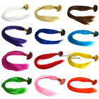 12 Color Solid Single Synthetic Feather Hair Extensions Salon Home 50/100/200pcs
