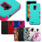 For ZTE Phones TUFF Hybrid Design Hard Gel Shockproof Case Fitted Cover