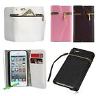 New Zipper PU Leather Wallet Flip Hard Case Cover Card Holder For iPhone 4/5S/5C