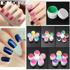6 Colours 8ml Pro Nail Art Builder Solid Pure UV Gel Set Extension Tips Manicure