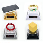 LO Solar Power Rotating Jewelry CellPhone MP3 Display Stand Turntable Plate UKSL