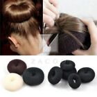 Women Synthetic Fiber Hair Donut Bun Ring Shaper Style Maker Black Brown Wig