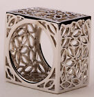 Silver full square leaves filigree cocktail band Ring JEWELRY RM17,Size 7,8,9,10