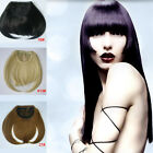 NEW gorgeous Front Neat Bang Fringe Hair Extensions Synthetic Clip on Any Colors