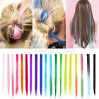 "Candy Color Two Tone Straight Long 21"" Clip in Hair Extensions Hair Pieces"