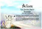 Personalised First Name Guardian Angel Print Certificate Scroll *Unique Gift**