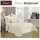 Illiana Cream Embroidery Bedspread +P/cases SINGLE King Single DOUBLE QUEEN KING