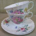 Royal Doulton 4 Pieces Arcadia Floral Flowers Tea Cups & Saucers China England