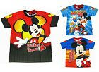 Mickey Mouse Boy Kid Polyester Top T-Shirt Size S-XL age 3-10