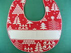READY TO SMOCK  HOLIDAY BABY BIBS WITH A WHITE INSERT