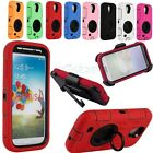 Hybrid Case with Ring Holder Stand for Samsung Galaxy S4 IV i545 i337 L720 R970