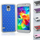Hybrid Rugged Rubber Bling Crystal Case Cover for SAMSUNG GALAXY S V S5 i9600