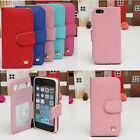 Fashion Cute Flip PU Leather Wallet Card Case Hard Cover For Apple iPhone 5s 5