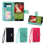 IZENGATE Wallet PU Leather Flip Case Cover Folio for LG G2 (Sprint & T-Mobile)