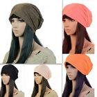Unisex Plicate Baggy Slouchy Plain Beanie pullover Caps Hats Solid Color New