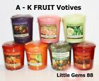 YANKEE CANDLE VOTIVE ** FRUIT SCENTS ** 15 HOUR CANDLE ~ YOU PICK ~ LISTING A