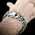 Chunky Cuban Link Bracelet , Thick, Heavy, Chunky - Sold Sterling Silver @ 20mm