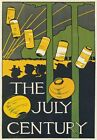 AP109 Vintage 1895 American The July Century Advertisement Poster A1/A2/A3/A4