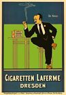 AP159 Vintage German Cigaretten Laferne Dresden Advertisement Poster A1/A2/A3/A4