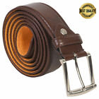 "Внешний вид - BELT MENS JEANS BROWN  ALL SIZES 30""-60""  GENUINE LEATHER STYLISH CASUAL BELT"