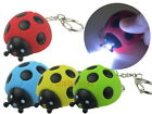 Ladybug Ladybird LED Light with Sound Key Chain Ring