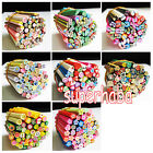 50pcs 3D Nail Art Fimo Canes Stick Rods Polymer Clay Stickers Tips Cute DIY New