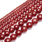 Natural Red Sea Coral Gemstone Round Ball Loose Beads 2mm 3mm 4mm 5mm 6mm 9mm