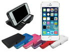 Leather Wallet Case Stand with Soft TPU for Apple iPhone 5S 5