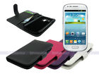 Leather Wallet Case Cover for Samsung Galaxy S III S3 Mini i8190 Card Slot