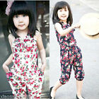 Girls Kids Toddler Jumpsuit Short Summer Playsuit Clothing 2-8Y Rompers Sales