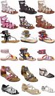 kids gold shoes - Girls Kids Multi Color Roman Caged Gladiator Sandals Flats Strapy Shoes Sz 11-4