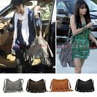 Celebrity Tassel Suede Fringe Shoulder Messenger Handbag Cross Body Bag Purse